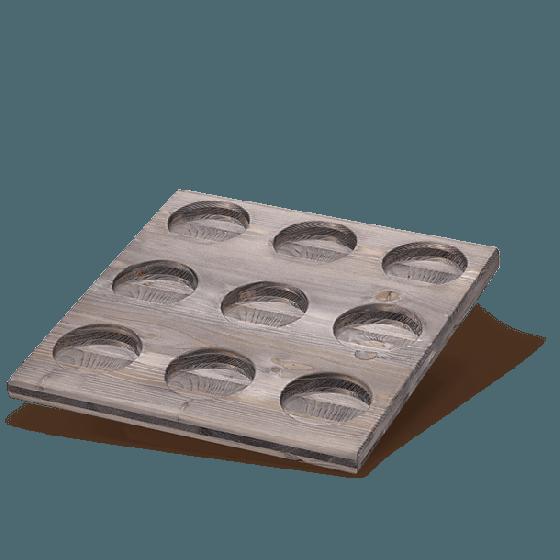 Tee Display Holz