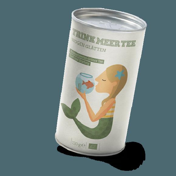 Grüner Tee mit Mango Wogen Glätten