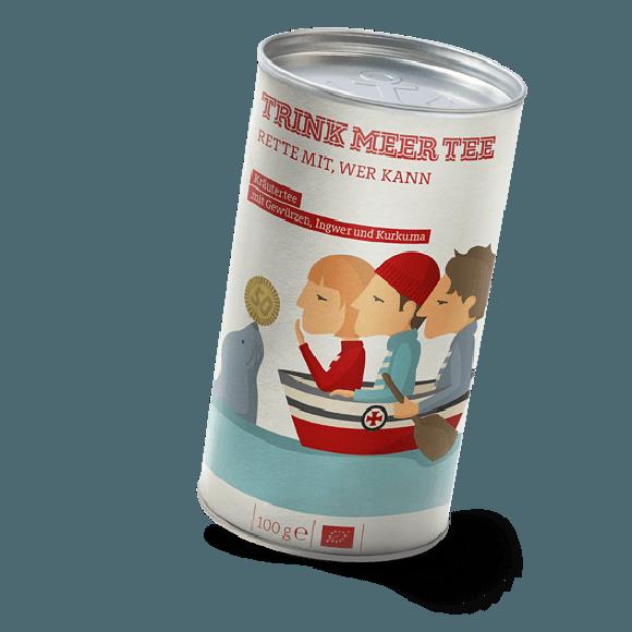 Kräutertee mit Gewürzen, Ingwer und Kurkuma